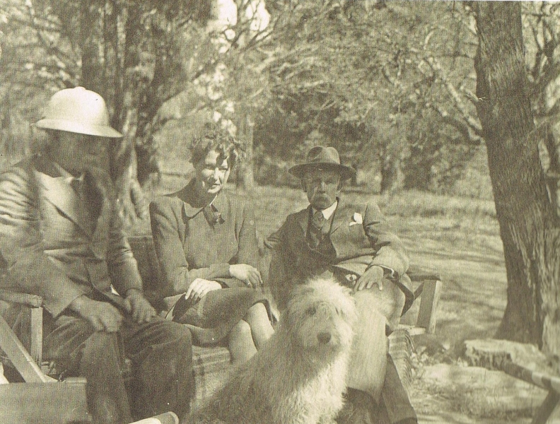 harry-ted-molteno-with-con-pare-at-glen-elgin-c-1940s